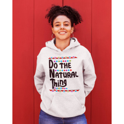 Do The Natural Thing White Hoodie