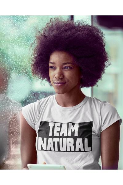 Team Natural Black Box White Tee